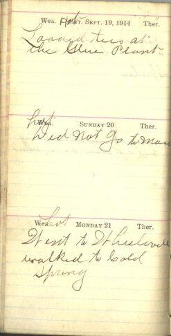 September 19 to 21, 1914