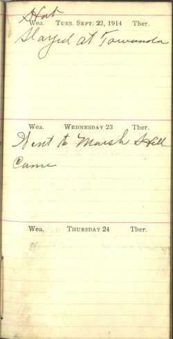 September 22 to 24, 1914