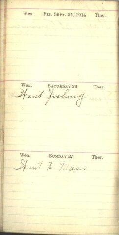 September 25 to 27, 1914