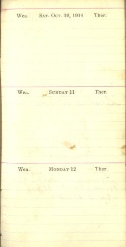 October 10 to 12, 1914
