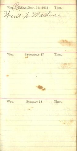 October 16 to 18, 1914