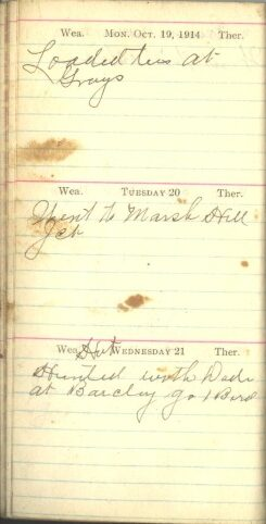 October 19 to 21, 1914