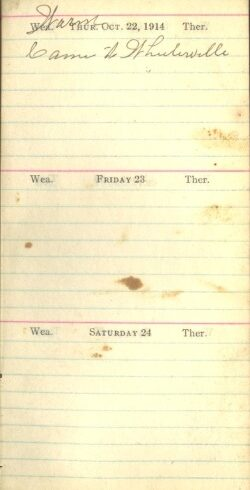 October 22 to 24, 1914