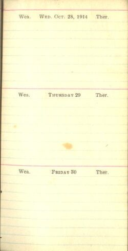 October 28 to 30, 1914