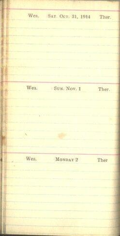 October 31 to November 2, 1914