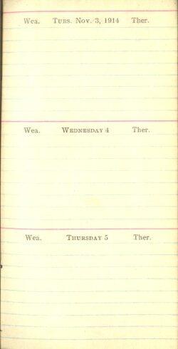 November 3 to 5, 1914