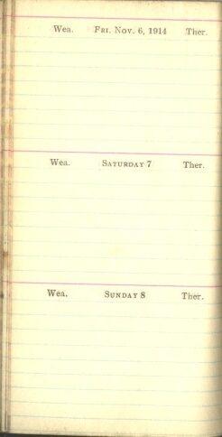 November 6 to 8, 1914