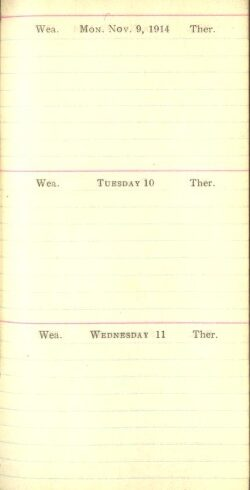 November 9 to 11, 1914