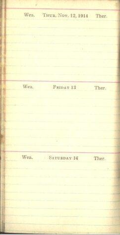 November 12 to 14, 1914