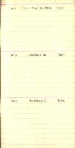 November 15 to 17, 1914
