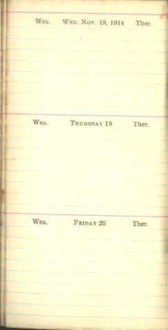 November 18 to 20, 1914