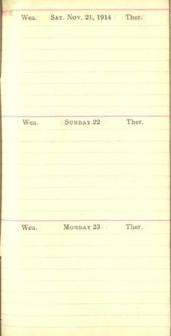 November 21 to 23, 1914