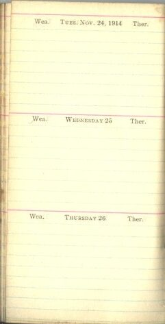 November 24 to 26, 1914