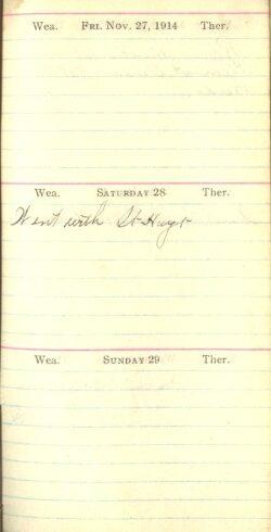 November 27 to 29, 1914