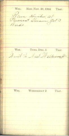 November 20 to December 2, 1914
