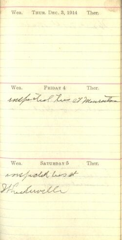 December 3 to 5, 1914