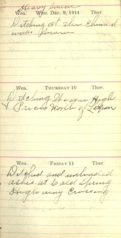 December 9 to 11, 1914