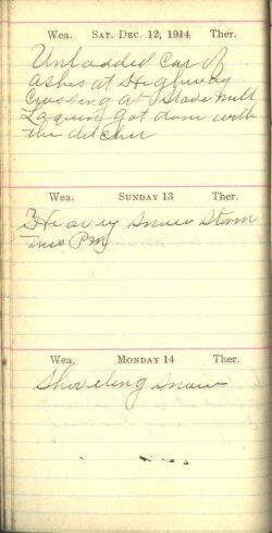 December 12 to 14, 1914
