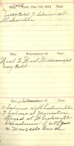 December 15 to 17, 1914
