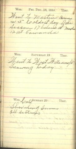 December 18 to 20, 1914