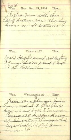 December 21 to 23, 1914