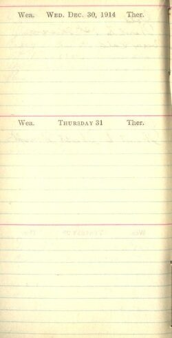 December 30 to 31, 1914